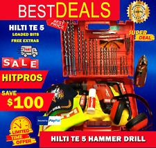 Hilti Te 5 Hammer Drill Lk Free Extras Loaded Bits Germany Fast Shipping