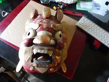 masque Balinais bois et metal 31 x 24 cm