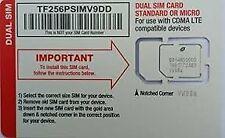 Straight Talk Verizon 4G LTE Compatible Mini/Micro SIM Card. Fits most Verizo...