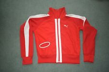 Ladies Vintage Puma Red Tracksuit Top /jacket Size 14