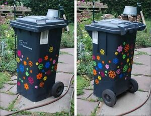 kein Wandtattoo Blumen Mülltonnentattoo keine Pril-Blumen aber trotzdem witzig