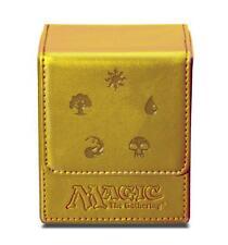 ULTRA PRO MTG Magnetic Flip Deck Box *ALL MANA SYMBOLS GOLD* Magic the Gathering