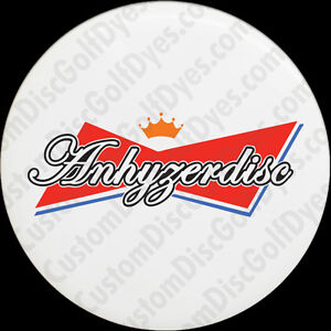 Anhyzer Disc (2 Pack) - Peel & Paint Disc Golf Custom Dye Stencil