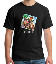 Zoo Party Wear Adult's T-shirt Horses Smiling Selfies Tee for Men - 1750C
