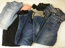 Girls Lot of 9 Jeans Crop Capris So Mudd Piper Children's Place Justice Size 12