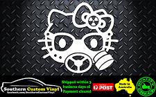 Hello Kitty Gas Mask radioactive Car Window Sticker Decal