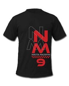F1 Nikita Mazepin 9 Grand Prix Formula 1 Racing Driver T-Shirts