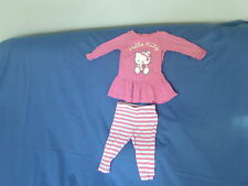 Baby Girls 3-6 Months - Pink/White Tunic Top & Leggings Set - Hello Kitty