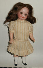 "Antique 8"" Armand Marseille 253 Nobbi Kid Googly Girl Child Body, Human Hair Wig"