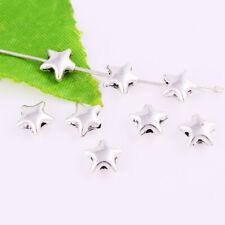 Wholesale Tibetan silver Star Loose Spacer Beads DIY Jewelry Making 8x4mm