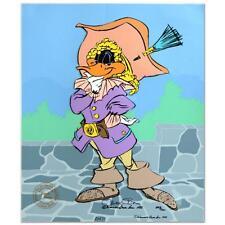 "Chuck Jones Signed Animation Cel Daffy Duck ""Daffy Cavalier"" Coa"