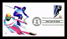 DR JIM STAMPS DOWNHILL SKIING SPORTS FDC LIMITED EDITION CACHET US COVER