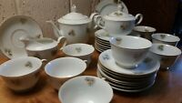 29pc Vintage Fukagawa Arita Pine Cone China Service pieces