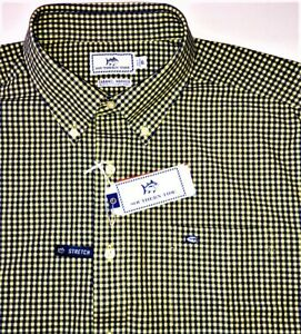 NWT SOUTHERN TIDE CHANNEL MARKERS MEN'S XL STRECH BUTTON UP PLAID SHIRT - $11O