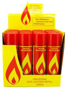 2 x Butane Universal Gas Refill Jet Blow torch Lighter Fuel BBQ 250ML Good Cheap