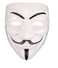 """V"" per Vendetta Bianco Spaventoso Maschera Halloween Fancy Dress Anonymous Guy Film fawke"