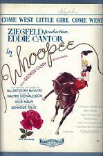 "Eddie Cantor ""WHOOPEE"" Walter Donaldson / Gus Kahn 1928 Broadway Sheet Music"