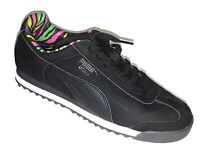 Puma Women's Roma Black Lace Up Sneakers Size 7.5    S17