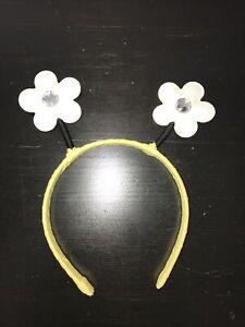 Gymboree girls yellow daisy white flower Hair headband BEE CHIC 4 5 6 7 NEW NWOT