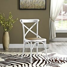 Lexmod Gear Dining Side Chair, White EEI-1541-WHI Dining Chair NEW