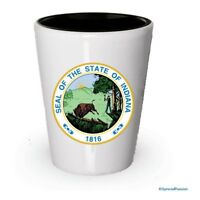 The state seal of Indiana Shot glass - Gifts for Indiana People (4)