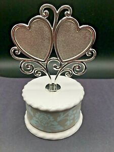 """CAKE TOP TWO HEARTS BY Lenox Westmore Cake Topper 5.75""""  New In Box"""
