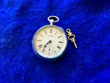Big Heavy Antique Solid Silver 130 grams WALTHAM Pocket Watch running