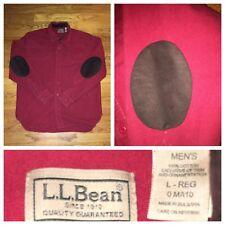 L.L. Bean Men's Red Chamois Flannel Elbow Patches L/S Shirt Size Large