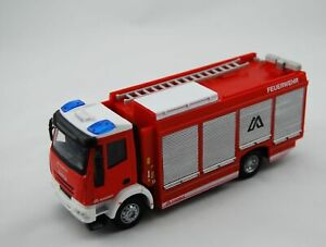 BBURAGO EMERGENCY IVECO MAGIRUS RW FIRE BRIGADE 1:50 32052 DIE CAST METAL NEW