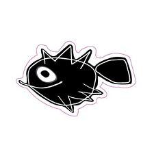 Autocollant poisson fish sticker adhesif logo 5 12 cm turquoise