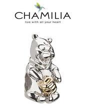 Genuine chamilia 925 de plata y 14k Oro Disney Pooh & Honey Pot encanto Grano de Oro