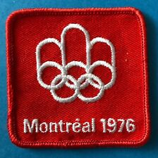 Rare 1976 Olympic Summer Games Montreal Canada Hat Hipster Jacket Patch Crest A