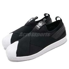 new concept ec297 66428 adidas Originals Superstar Slip on W Black White Strap Womens Shoes S81337  8.5