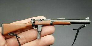 MINIATURE BRITISH COMMANDO SAS WWII DE LISLE CARBINE W SILENCER DRAGON 1/6 SCALE