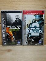 Tom Clancy PSP Shooter Lot Splinter Cell Essentials & Ghost Recon 2 CIB Tested