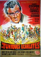 Plakat Kino Western Les Tuniken Ecarlates Gary Cooper - 120 X 160 CM