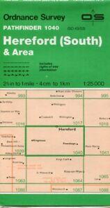 UK ORDNANCE SURVEY Pathfinder (1:25000) Map 1040 - Hereford (South) & Area