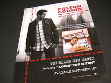 EASTON CORBIN is ALL OVER THE ROAD 2012 PROMO POSTER AD