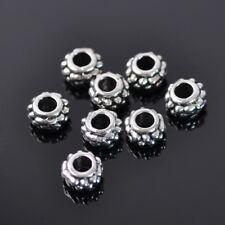 50pcs 7x4mm Tibetan Silver Metal Loose Spacer Beads Charms DIY Jewelry Making