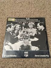 All About Eve Laserdisc - Bette Davis - FACTORY SEALED NEW