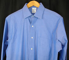 Brooks Brothers Blue Shirt Long Sleeve Non-Iron Slim Fit All Cotton 16 ~ 33