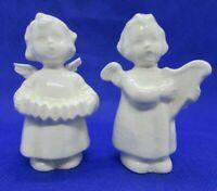 Vintage Sacrart Goebel Angel Figurines Playing Musical Instruments, Set of two