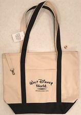 NEW Walt Disney World Cotton Canvas Tote 🌐 WDW Shopping Bag 🌐 Natural & Blue