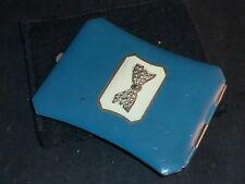 Stylish Vintage Art Deco Blue Enamelled Powder Compact.