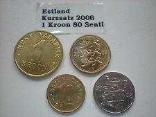 Estland  -  5  x  1,80  Kroon   2006 je  4  Werte   unc.