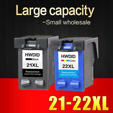 2 Ink Cartridges Printer HP 21 22 XL Black Tri Color HP Deskjet F4100 F4180 New