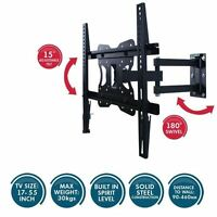 New Tilting Wall Mount Tv Bracket 17 To 55 Inch Universal Flat 180 Swivel Adjust