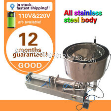 USA stock now 1000ml liquid filling machine for cream sauce,cosmetic with heater
