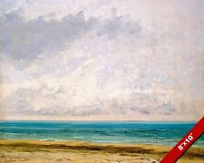 THE CALM SEA BY GUSTAVE COURBET FRENCH PAINTING ART REAL CANVAS GICLEEPRINT