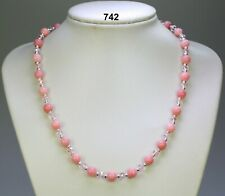 "Rare Beautiful 10x14mm Drop Shape Pink Rhodochrosite Gemstone Necklace 18/"""